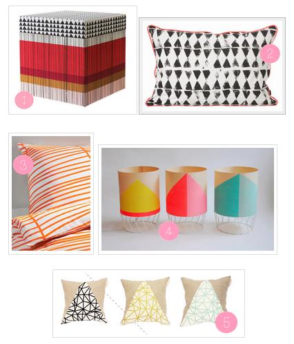 Des accessoires deco colorés & graphiques