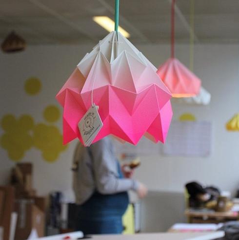 Suspensions origami avec le Studio Snowpuppe